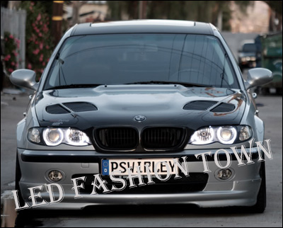 Details about 2 White LED Halo Angel Eyes BMW E92 E93 M3 328i 335i H8